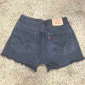 Vintage Levi's distressed black 501 cutoff shorts